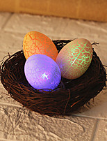 cheap -Easter Egg Decoration LED Night Light Glow Crack Egg Handmade Rattan Weed Grass Bird Nest Staycation