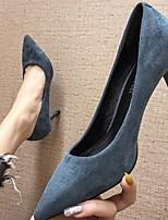 cheap -Women's Heels Stiletto Heel Pointed Toe PU Spring & Summer Black / Burgundy / Blue