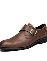 cheap -Men's Leather Fall / Spring & Summer Casual / British Loafers & Slip-Ons Breathable Brown / Black / Party & Evening
