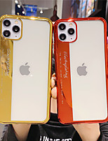 cheap -Case For Apple iPhone 11 / iPhone 11 Pro / iPhone 11 Pro Max Plating / Pattern Back Cover Word / Phrase / Transparent / Solid Colored TPU