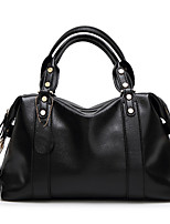 cheap -Women's Zipper Polyester / PU Top Handle Bag Solid Color Black / Blue / Red