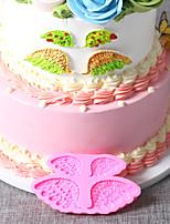 cheap -1pcs Angel Wings Cake Baking Silicone Mold DIY