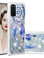 cheap -Case For Samsung Galaxy Samsung Galaxy A50s / Samsung Galaxy A30s / Samsung Galaxy A10s Flowing Liquid / Transparent / Pattern Back Cover Glitter Shine TPU