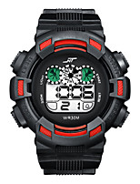 cheap -Men and Women Digital Watch Quartz Sporty Stylish Black / White / Green 30 m Water Resistant / Waterproof Calendar / date / day Alarm Clock Digital Casual Cool - Red Green White Two Years Battery Life