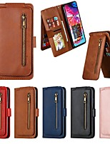 cheap -Case For Samsung Galaxy A5(2018) / A7(2018) / M10(2018)  Wallet / Card Holder / Shockproof Full Body Cases Solid Colored PU Leather Case For Samsung Galaxy  A10S / A20E / A20S / A30 / A40 / A50 / A70
