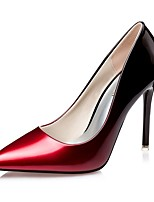 cheap -Women's Heels Stiletto Heel Pointed Toe PU Spring & Summer Black / Wine / Fuchsia