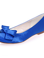 cheap -Women's Wedding Shoes Flat Heel Round Toe Bowknot Satin Sweet Spring & Summer White / Purple / Red / Party & Evening