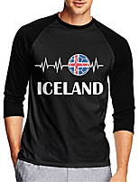 cheap -21Grams Men's Long Sleeve Cycling Jersey Downhill Jersey Dirt Bike Jersey 100% Polyester Black Iceland National Flag Bike Jersey Top Mountain Bike MTB Road Bike Cycling UV Resistant Breathable Quick