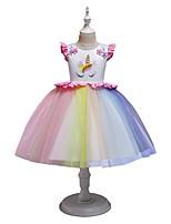 cheap -Kids Girls' Rainbow Dress White
