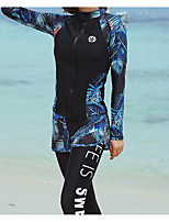 cheap -Women's Rash Guard Dive Skin Suit Diving Suit UV Sun Protection Anatomic Design Full Body Front Zip - Diving Water Sports Painting Summer / Micro-elastic