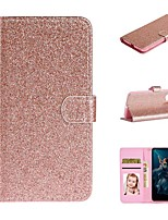 cheap -Case For Huawei P30/P30 Pro/ P30 Lite Wallet / Card Holder / with Stand Full Body Cases Solid Colored / Glitter Shine PU Leather For Huawei Mate 30/Mate 30 Pro/Y5 2019/Y6 2019/Nova 6/Nova 6SE