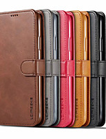 cheap -Case For Samsung Galaxy S20 Plus / S20 Ultra / S20 Card Holder / Flip Full Body Cases Solid Colored PU Leather / TPU