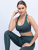 cheap -Women's 2pcs Yoga Suit Winter Solid Color Purple Red Green Running Fitness Gym Workout Sports Bra Leggings Sleeveless Sport Activewear Quick Dry Butt Lift Tummy Control High Elasticity Loose