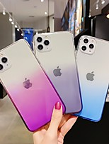 cheap -Case For Apple iPhone 11 / iPhone 11 Pro / iPhone 11 Pro Max Translucent / Glitter Shine Back Cover Color Gradient / Solid Colored TPU