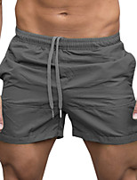 cheap -Men's Swim Shorts Swim Trunks Bottoms Breathable Quick Dry Drawstring - Swimming Water Sports Solid Colored Summer / Micro-elastic