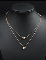 cheap -Men's Women's Pendant Necklace Classic Flower Fashion Chrome Gold 50 cm Necklace Jewelry For