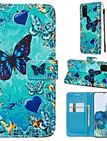 cheap -Case For Samsung Galaxy A90/Galaxy A80/Galaxy A50s Wallet / Card Holder / with Stand Full Body Cases Butterfly PU Leather For Galaxy A51/A71/S20/S20 Plus/S20 Ultra/A10S/A20S/A30S