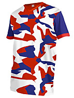 cheap -21Grams Men's Short Sleeve Cycling Jersey Downhill Jersey Dirt Bike Jersey 100% Polyester Red / White Camo / Camouflage Bike Jersey Top Mountain Bike MTB Road Bike Cycling UV Resistant Breathable