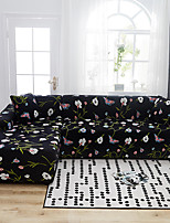 cheap -Floral Print Dustproof All-powerful Slipcovers Stretch L Shape Sofa Cover Super Soft Fabric Couch Cover with One Free Pillow Case