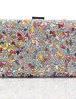 cheap -Women's Crystals / Hollow-out Alloy Evening Bag Solid Color Black / Gold / Silver