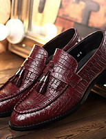 cheap -Men's Leather Spring & Summer British Loafers & Slip-Ons Red / Brown / Black