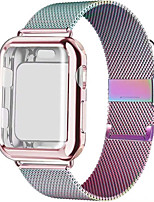cheap -Milanese Loop band with case For Apple Watch Series 5/4/3/2 38mm 42mm 40mm 44mm Stainless Steel Strap Wrist Bracelet for iwatch
