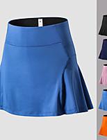 cheap -Women's High Waist Yoga Skirt Solid Color Pink Orange Blue Black Dark Blue Elastane Running Fitness Gym Workout Bottoms Sport Activewear Breathable Soft Stretchy