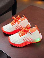 Недорогие -Мальчики / Девочки Обувь с подсветкой Flyknit Спортивная обувь Малыш (9м-4ys) / Маленькие дети (4-7 лет) Розовый / Оранжевый / Зеленый Весна / Лето / Контрастных цветов