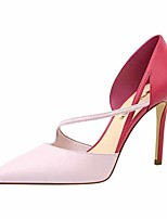 cheap -Women's Heels Stiletto Heel Pointed Toe Faux Leather Casual / Minimalism Spring / Summer Black / Almond / White