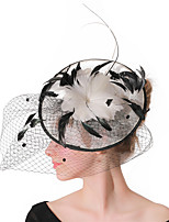 cheap -Headpieces Wedding Polyester / Feathers Fascinators / Hats / Headwear with Feathers / Fur / Cap 1 Piece Wedding / Party / Evening Headpiece
