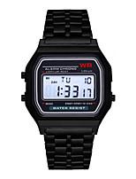 Недорогие -Муж. электронные часы С автоподзаводом Формальный Спортивные Нержавеющая сталь Черный / Серебристый металл / Золотистый 30 m Календарь будильник Цифровой На каждый день На открытом воздухе -