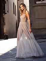 cheap -Women's A Line Dress - Solid Maxi Color Beige S M L XL