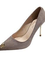 cheap -Women's Heels Stiletto Heel Pointed Toe Suede Spring & Summer Black / Green / Light Pink