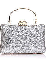 cheap -Women's Sequin / Chain Polyester Evening Bag Solid Color Black / Champagne / Blushing Pink