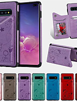 cheap -Case For Samsung Galaxy Galaxy S10 Plus Card Holder / Shockproof / Pattern Back Cover Cartoon PU Leather