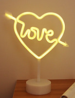 cheap -LED Night Light One Arrow Penetrating Heart Love Neon Modeling Lights Creative Interior Decoration Lamp Proposal Props Wedding Staycation