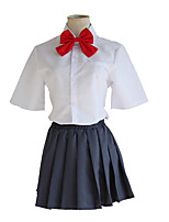 cheap -Inspired by Your Name Miyamizu Mitsuha Anime Cosplay Costumes Japanese Cosplay Suits Top Skirt Bow Tie For Women's