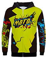 Недорогие -moto gp взрослый с длинными рукавами теплый полиэстер / воздухопроницаемый / быстросохнущий внедорожный мотоцикл флисовая майка с капюшоном одежда одежда спорт на открытом воздухе теплый пиджак