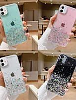 cheap -Case For Apple iPhone 11 / iPhone 11 Pro / iPhone 11 Pro Max Shockproof / Ultra-thin / Transparent Back Cover Transparent / Glitter Shine PC
