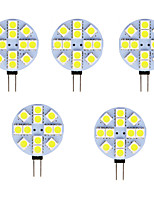cheap -5pcs 2 W LED Bi-pin Lights 80-100 lm G4 T 12 LED Beads SMD 5050 Warm White Cold White 12 V