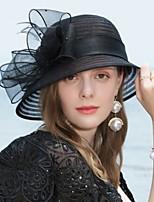 cheap -Poly / Cotton Blend Hats with Cap 1 Piece Wedding Headpiece