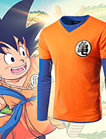 cheap -Inspired by Dragon Ball Son Goku Cosplay Anime Cosplay Costumes Japanese Cosplay T-shirt Top For Men's Women's