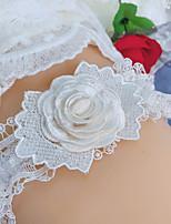 cheap -Chinlon / Elastane / Lace Wedding Wedding Garter With Stitching Lace / Pattern / Print / Ruffle Garters Wedding / Festival