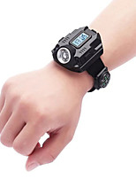 cheap -Rechargeable LED Watch Wrist Light SOS Flashlight with Compass LED Flashlights Torch with USB Cable Portable Durable Camping Hiking Caving Cycling Bike