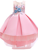 cheap -Princess Dress Flower Girl Dress Girls' Movie Cosplay A-Line Slip Cosplay Pink / Beige / Light Blue Dress Halloween Carnival Masquerade Tulle Polyester