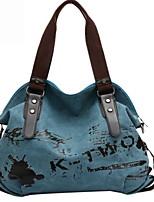 cheap -Women's Zipper Canvas Top Handle Bag Solid Color Purple / Blue / Brown