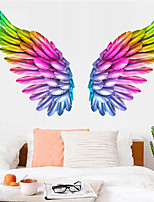 cheap -Creative Angel Wings Wall Stickers Ins Bedroom Wall Decoration Room Layout Self-adhesive Removable Wallpaper Room Decoration