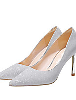 cheap -Women's Heels Stiletto Heel Pointed Toe Sequin Synthetics Sweet Walking Shoes Spring &  Fall / Spring & Summer Silver / Wedding / Party & Evening