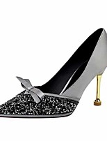 cheap -Women's Heels Crystal Sandals Stiletto Heel Pointed Toe Satin Casual / Minimalism Spring / Summer Wine / Gold / Green / Daily / 3-4