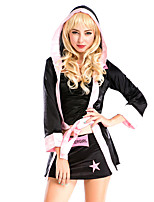 cheap -Boxer Dress Coat Cosplay Costume Adults' Women's Cosplay Halloween Halloween Festival / Holiday Polyster Black Women's Carnival Costumes